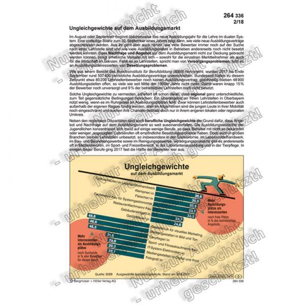 Zahlenbild für den Unterricht  Ausbildungsmarkt